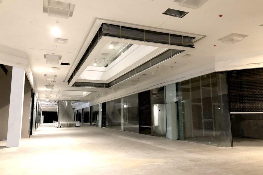 Автоматическая противодымная штора аккордеонного типа в Торгово-Развлекательном Центр «Palazzo», г. Минск