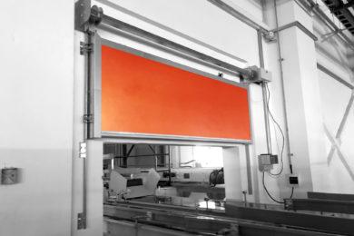 Огнезащитные преграды конвейерных проёмов (шибер) «Conveyor fire barriers Ei120»
